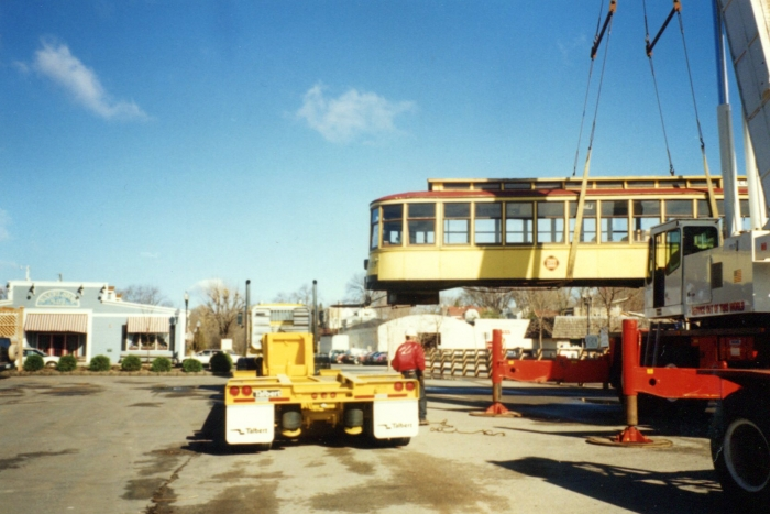 Moving streetcar